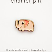 Tiny Elephant Pin - Pink Elephant Enamel Pin by boygirlparty