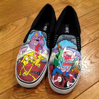 Custom Shoes Zombie Adventure Time Vans or Toms by MyCustomKicks