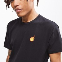 Embroidered Flame Tee | Urban Outfitters