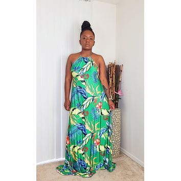 PARADISE - Tropical Maxi Dress