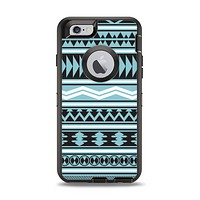 The Vector Blue & Black Aztec Pattern V2 Apple iPhone 6 Otterbox Defender Case Skin Set