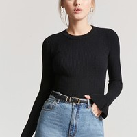 Ribbed Bell-Cuff Top