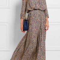 The Great - Carousel floral-print silk-crepe maxi dress