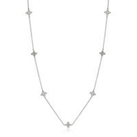 36 Inch Star Stud Necklace