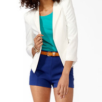 Textured Coated Lapel Blazer | FOREVER 21 - 2031557708