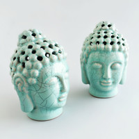 Fragrance Infused Small Porcelain Buddha
