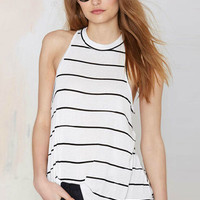 White Striped Cami