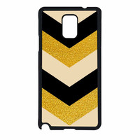Chevron Classy Black And Gold Printed Samsung Galaxy Note 4 Case