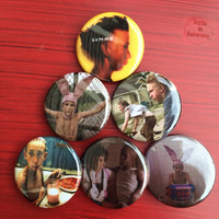 """1.25"""" Gummo pin back button set of 6"""