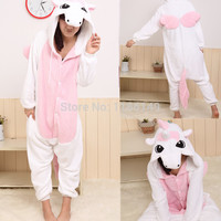 Cartoon animal costume unicorn Onesuits Pajamas adult  Pyjamas Unisex pijamas  ,sleepwear, jumpsuit ,party dress