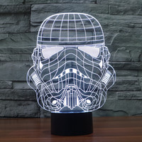 New Arrival 3D Colorful Starwars Multi-color LED Lights = 5826264129
