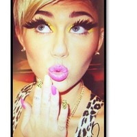 Miley Cyrus Signed HD image case cover for iphone 4/4S black A Nice Present