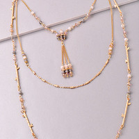 Sticks and Stones Layer Necklace