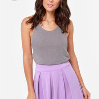 LULUS Exclusive Times Flare Lavender Skirt