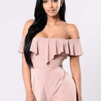 You Are My Everything Romper - Mauve