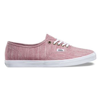 Floral Chambray Authentic Lo Pro   Shop Womens Shoes at Vans