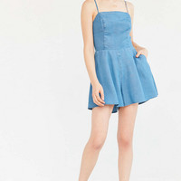 Strappy Halter Neck Denim Dress 10121