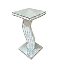 Large silver mosaic vase side table centerpieces