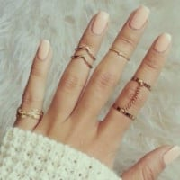 Trendy Stylish Cute Ring Set
