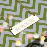 Monogrammed Golden Name Plate Neckalce | Accessories | Marley Lilly
