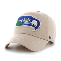 "Seattle Seahawks 47 Brand NFL ""Wright"" Clean Up Adjustable Hat - Khaki"