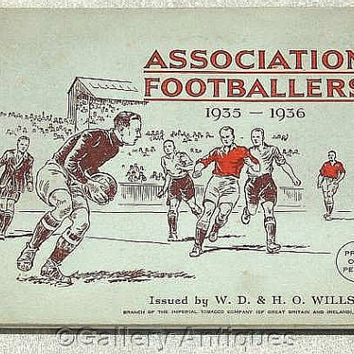 Association Footballers 1935 - 1936 Full Set of 50 Cigarette Cards in Original Album by W. D. & H. O. Wills Issued in 1935 (ref: 3190)