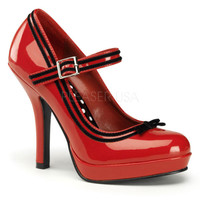 Secret Red Patent Baby Doll Pumps