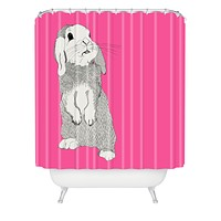 Casey Rogers Rabbit Shower Curtain