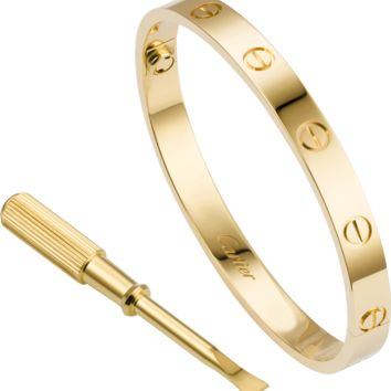 LOVE bracelet: LOVE bracelet, 18K yellow gold. Sold with a screwdriver.