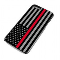 Thin Red Line Flag for iphone 6 plus case