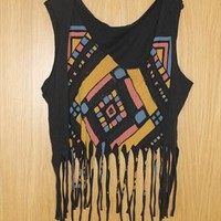 Urban outfitters aztec crop top from kwosien