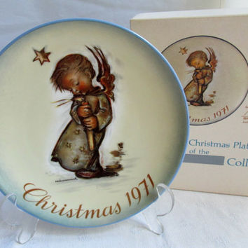 Berta Hummel 1971 Christmas Plate Angel Decor Limited First Edition