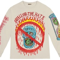 XXXTentacion Swallow The Hate Long Sleeve Tee Bone