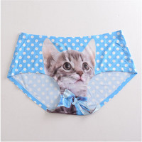 Pussycat panties, cat underwear, 5 Colors, cat face, Cat Sexy Lingerie, Black underwear, gift for her, awesome gift idea
