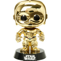 Funko Star Wars Pop! Gold C-3PO Vinyl Bobble-Head 2015 Summer Convention Exclusive