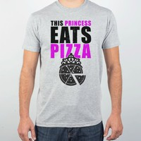 Heather Grey T-Shirt | Funny Pizza Shirts
