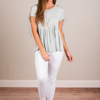 All About The Bow Top, Sage