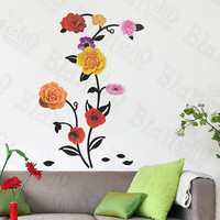 Rose Blossom - Wall Decals Stickers Appliques Home Decor