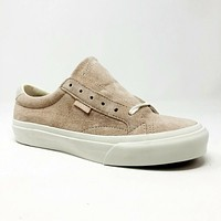 Vans Court DX (Pig Suede) Silver Peony Pink UltraCush Womens Shoes