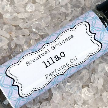 LILAC Perfume Oil - Fresh Lilacs Blooming in the Spring - Floral Scented Body Oil
