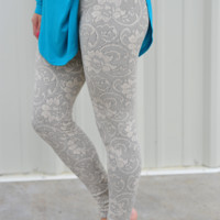 Restock: Branching Out Leggings: Ivory Lace   Hope's