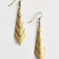 Boho On Point! Earrings in Gold by ModCloth