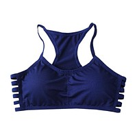 Stretch Cotton Workout Bra with Pad - Various Colors