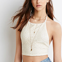 Crocheted Halter Crop Top