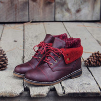The Nor'wester Boots in Burgundy