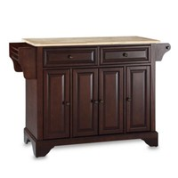 Crosley LaFayette Natural Wood Top Kitchen Island