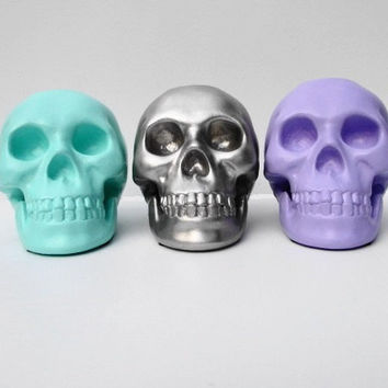Skulls, Set 3, Skull, Candle Holder, Skull Decoration, Skull Sculpture, Skull Housewares, Skull Home Decor