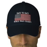 BACK TO BACK WORLD WAR CHAMPS **SPECIAL EDITION** EMBROIDERED HAT from Zazzle.com