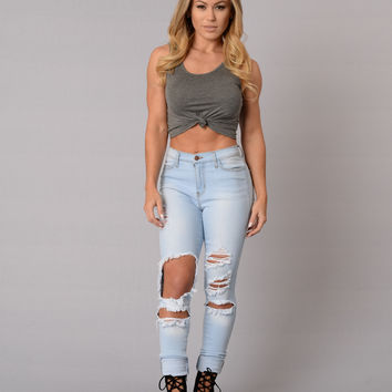 Ready or Knot Top - Charcoal