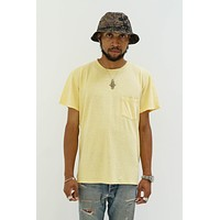 Jung Pocket Tee in Pale Yellow
